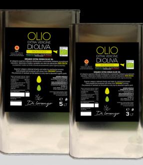 Olio extravergine di oliva Biologico DOP in latta