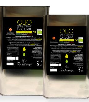 Organic DOP extravirgin olive oil (in tin)